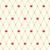 Czerwony argyle i liścia klonowego bezszwowy wzór Zdjęcia Stock