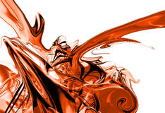 czerwony atrament plusk Obraz Stock