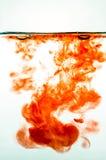 Czerwony atrament w wodzie Zdjęcie Royalty Free