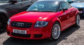 Czerwony Audi TT obrazy royalty free