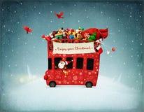 Czerwony autobus Zdjęcie Stock