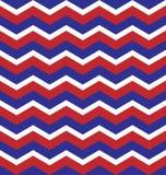 Czerwony Błękitny Biały Zygzakowatego wzoru bezszwowy tło Obraz Royalty Free