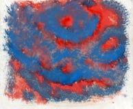 Czerwony Błękitny tło Fotografia Royalty Free