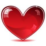 Czerwony błyszczący serce Obraz Royalty Free
