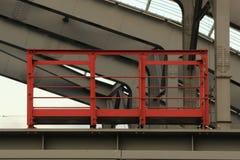 Czerwony balkon fotografia stock