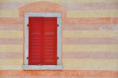 Czerwony balkon fotografia royalty free