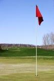 czerwony bandery Fotografia Royalty Free