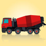 Czerwony betonowy melanżer na kolorze żółtym ilustracji