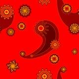 czerwony bezszwowy maswerk Obrazy Royalty Free