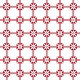 Czerwony bezszwowy zaszywanie wzór na białym tle Zdjęcia Royalty Free