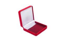 Czerwony biżuteryjny pudełko Obraz Royalty Free