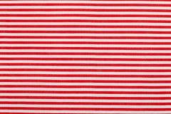 Czerwony biały horyzontalny prążka wzór Zdjęcie Stock