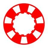 Czerwony biały kasynowy grzebaka układ scalony ilustracji