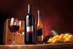 czerwony biały wino