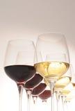 czerwony biały wino Zdjęcia Royalty Free