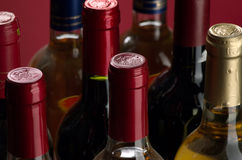 czerwony biały wino Fotografia Stock