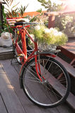 Czerwony bicykl Obrazy Royalty Free