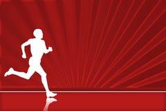 czerwony biegacz Obrazy Stock