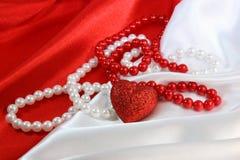 czerwony biel Obraz Royalty Free