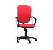 Czerwony biurowy krzesło odosobniony Obrazy Royalty Free