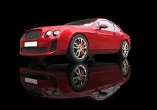 Czerwony Biznesowy samochód Na Czarnym tle Obraz Royalty Free