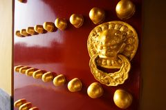czerwony, blisko drzwi Obrazy Royalty Free