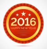 Czerwony 2016 boże narodzenie odznaki szczęśliwy nowy rok Obraz Stock