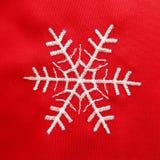 Czerwony Bożenarodzeniowy zaszyty płatek śniegu Piękna praca święta bożego fractal nocy obrazu gwiazda zdjęcia royalty free
