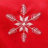 Czerwony Bożenarodzeniowy zaszyty płatek śniegu Piękna praca święta bożego fractal nocy obrazu gwiazda zdjęcie stock