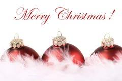 czerwony Boże Narodzenie biel Obrazy Royalty Free