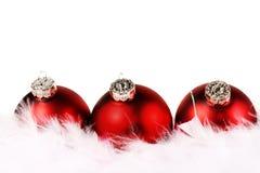 czerwony Boże Narodzenie biel Zdjęcie Stock