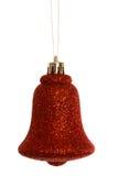 Czerwony boże narodzenie dzwonu dekoraci obwieszenie Obrazy Stock