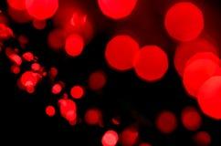 Czerwony bokeh światła tło Obraz Royalty Free