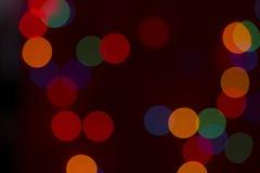 Czerwony bokeh Fotografia Stock