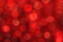 czerwony bokeh Obrazy Stock