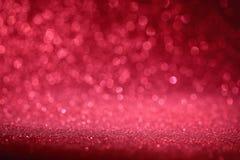 Czerwony bokeh abstrakta tło Obrazy Royalty Free