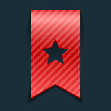 Czerwony bookmark na czarnym tle Fotografia Stock