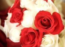 czerwony boquet białe wesele Zdjęcie Royalty Free