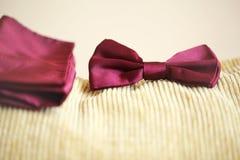 Czerwony bowtie tux Obraz Royalty Free