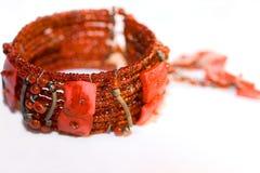 czerwony bransoletki Fotografia Royalty Free