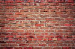 Czerwony brickwall tło Fotografia Stock