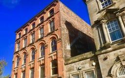 Czerwony brickwork stara księgarnia obraz royalty free