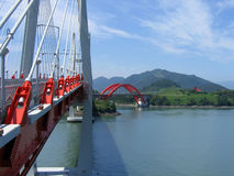 czerwony bridge Obraz Royalty Free