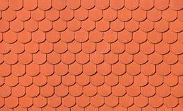 Czerwony brown ceramiczny dachowych płytek deseniowy tło zdjęcia stock