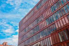 Czerwony budynek biurowy w Hamburg Fotografia Stock
