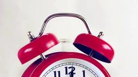 Czerwony budzik dzwoni zbiory