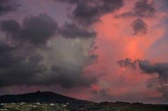Czerwony Burzowy niebo Zdjęcie Stock