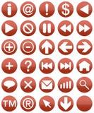 czerwony buttonset Obraz Stock