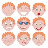 Czerwony chłopiec Emoticon Emoji ilustracji