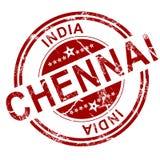 Czerwony Chennai znaczek royalty ilustracja